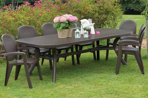 NARDI TOSCANA 9 PIECE OUTDOOR DINING SETTINGS