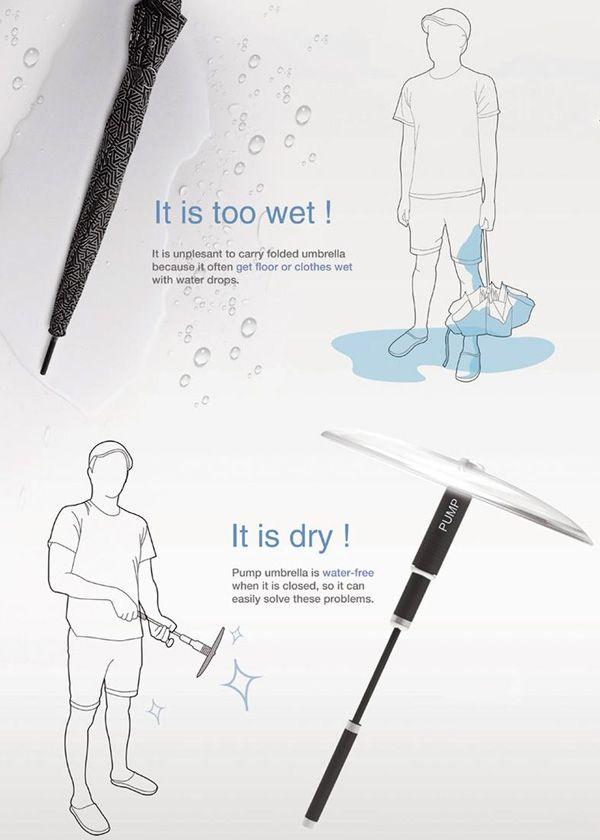 Yet another innovative umbrella :-)