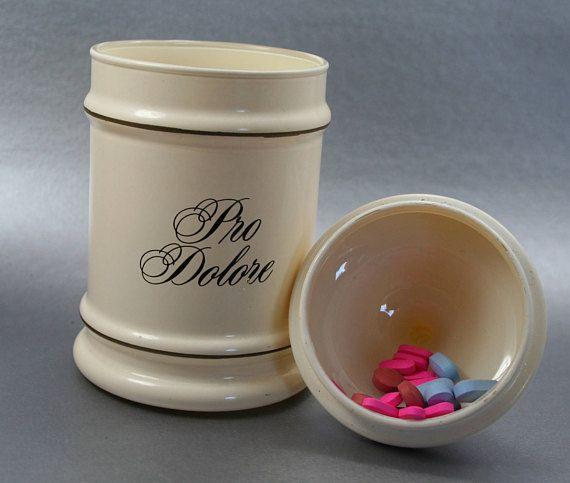 Vintage Apothecary Jar Mid-Century Modern Cream Jar