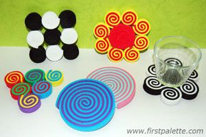 Cute craft foam coasters- mother's or father's day gift idea?