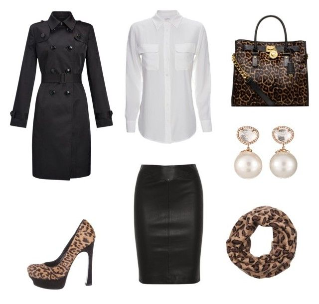 Leopard Bag black leather skirt