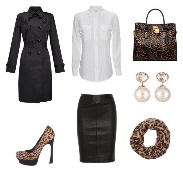 Leopard Bag black leather skirt
