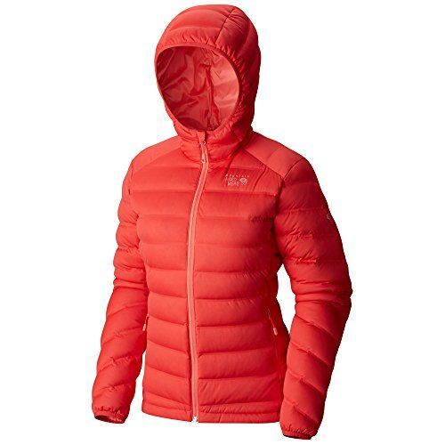 Mountain Hardwear Women's StretchDown Hooded Jacket, Scarlet Red, Small *** You can get additional details at the image link.