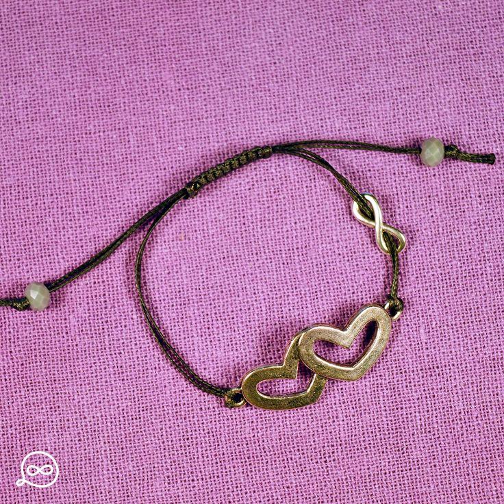 Metal Hearts Bracelet. #tufatufa