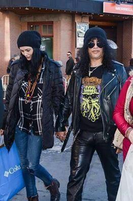 Slash With His New Girlfriend Meegan Hodges Guns N