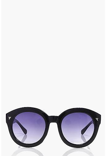 Macey Faded Lense Round Sunglasses