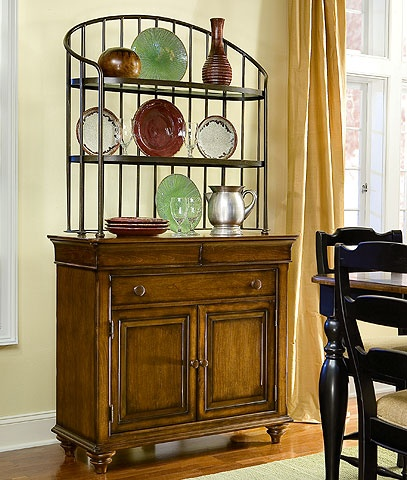 Nice Combination Of Sideboard And Baker S Rack Furniture