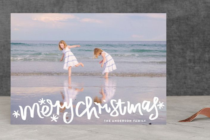 """""""Merry Christmas Letter"""" - Holiday Photo Cards in white by Phrosne Ras. #merry #happyholidays #foil #gold #rosegold #merrychristmas #photocards #minted #holidayscards #cards #christmas #holiday #happynewyear #cheers #love #merrybright #religious #bright #joy #clean #simple #modern #elegant #glitter"""