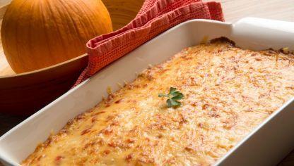 Receta de Lasaña de verduras con bechamel de pimiento rojo #lasagna #verduras