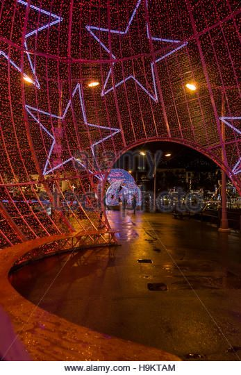 Christmas Lights in Funchal, Madeira - Stock Image
