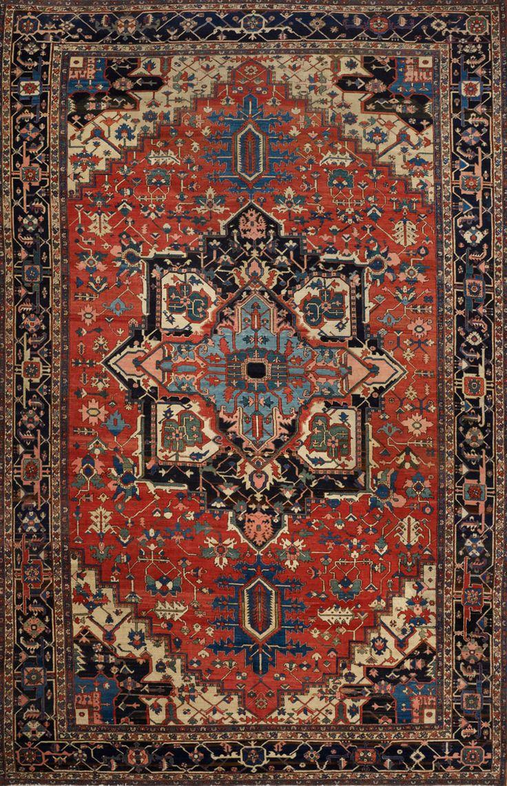 Antique Persian Serapi Rug                                                                                                                                                                                 More
