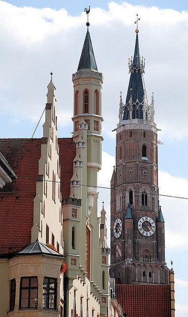 Die #Martinskirche in #Landshut - der höchste Backsteinturm der Welt #Bayern
