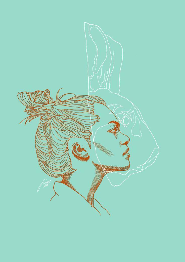 Rabbit Digital illustration 2015