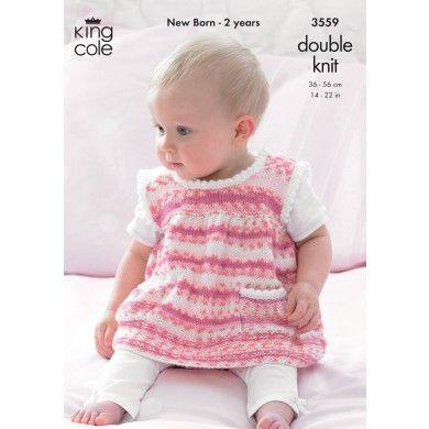 Dress, Sweater, Hat in King Cole DK - 3559 - Patterns