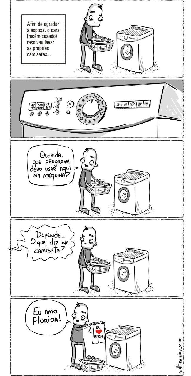 Homem lavando roupa é uma tragédia kkkk