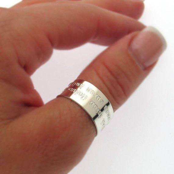 Wedding Band Unisex Black Thumb Ring Black Ring Men/'s Ring Ring For Men Ring for men Black and Silver Band Size 7 to 14 Boyfriend