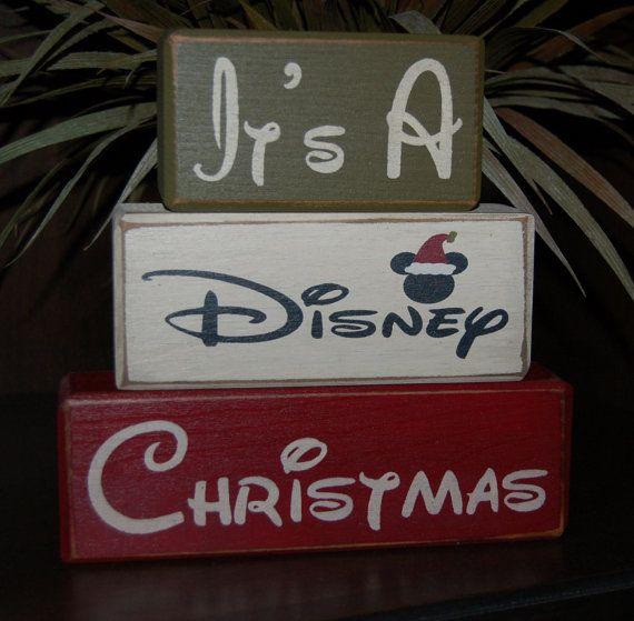 It's A DISNEY Christmas Mickey Mouse Santa by SimpleBlockSayings
