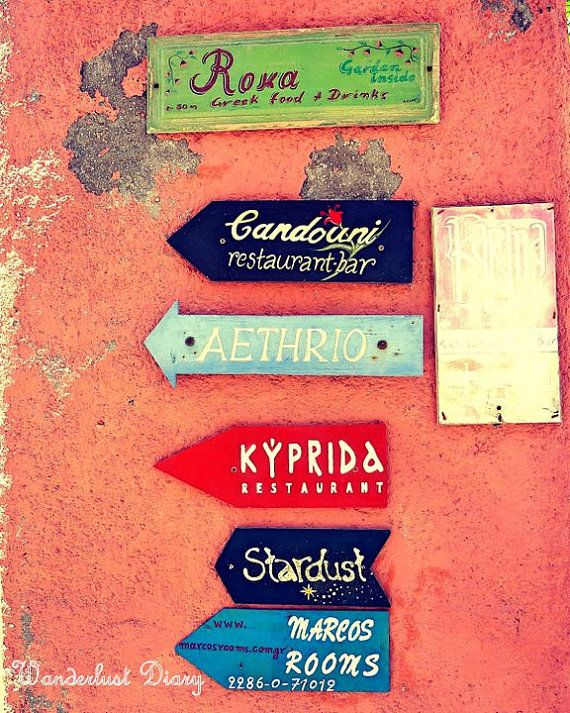Santorini, Greece Travel - Streetsigns