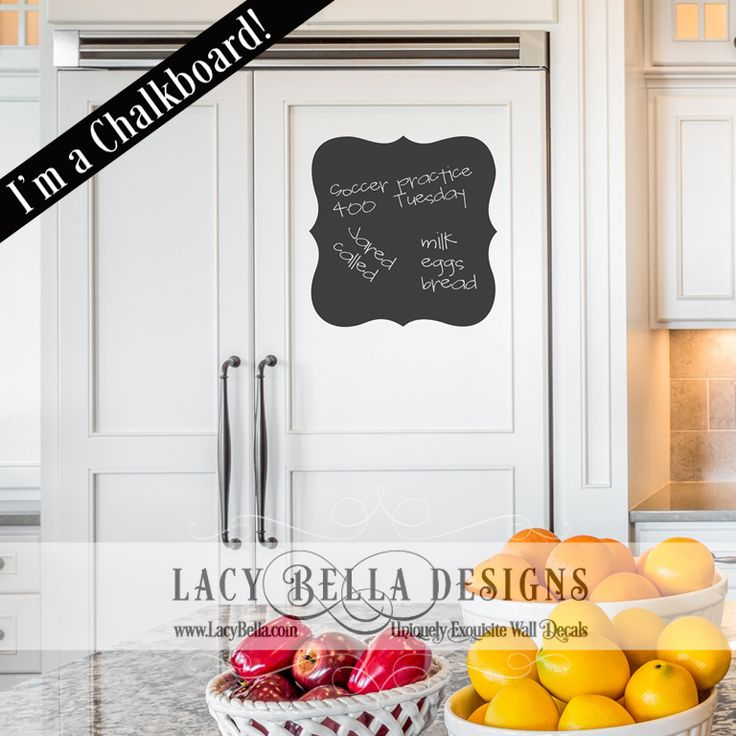 www.lacybella.com Chalkboard decal writable sticker in a classic label graphic
