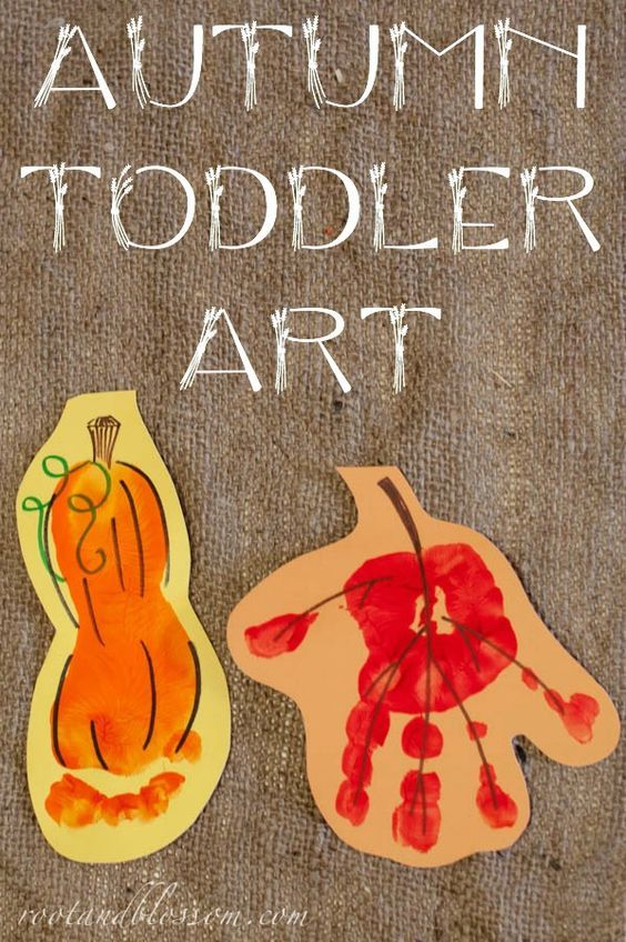 Autumn Toddler Created Banner With Footprints And Handprints
