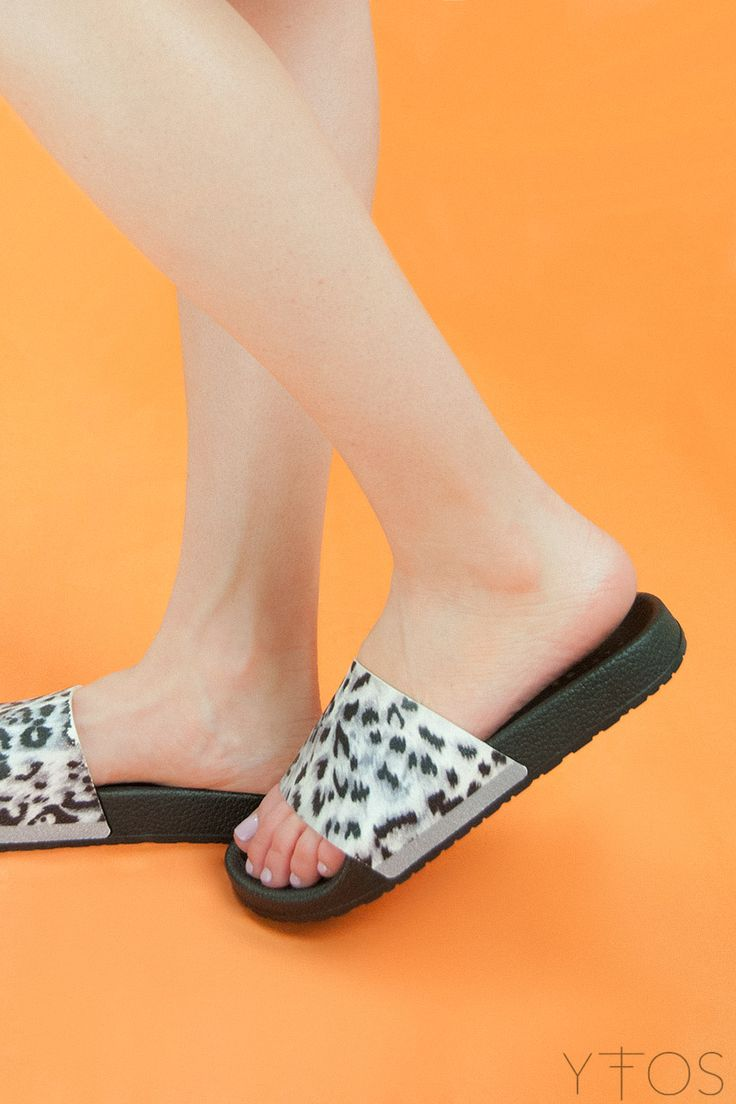 Yfos Online Shop | Shoes | Leopard Slider Sandals by Pareoo