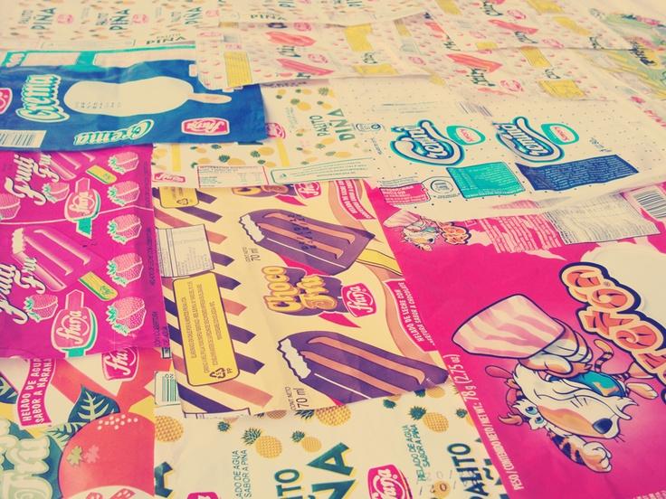 Colección de envases dulces