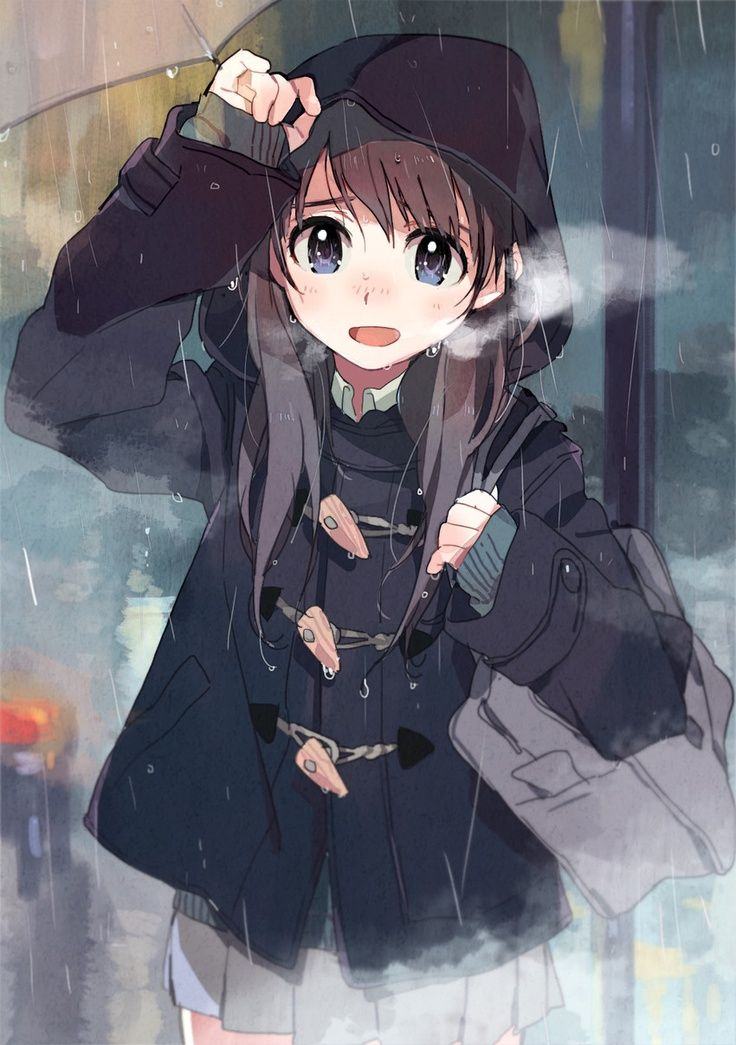 Anime girl in the rain Anime Pinterest France, Anime