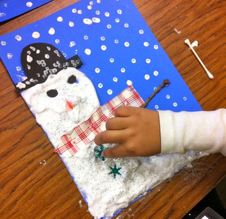 Sleepyhead Designs Studio: Snowman Lesson-Shaving Cream and Glue