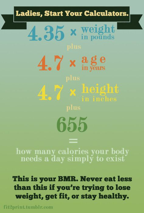 How many calories do you need on a daily basis to be healthy?