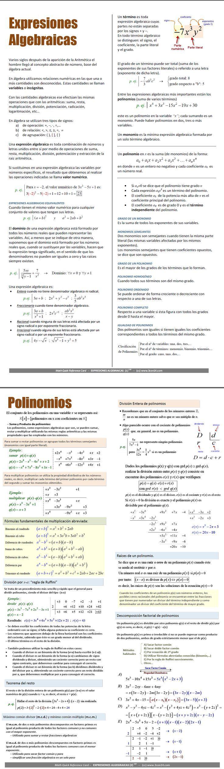 exp algebraicas