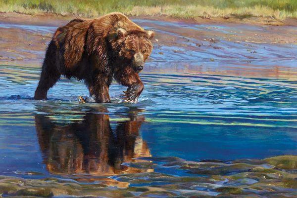 Kelly Singleton, Alaskan Bruin, oil, 24 x 36.
