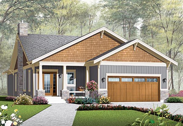 Best 25 attached garage ideas on pinterest mudd room for Narrow house plans with attached garage