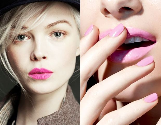 Channel your inner pink lady this week with pink nails and pink lips!