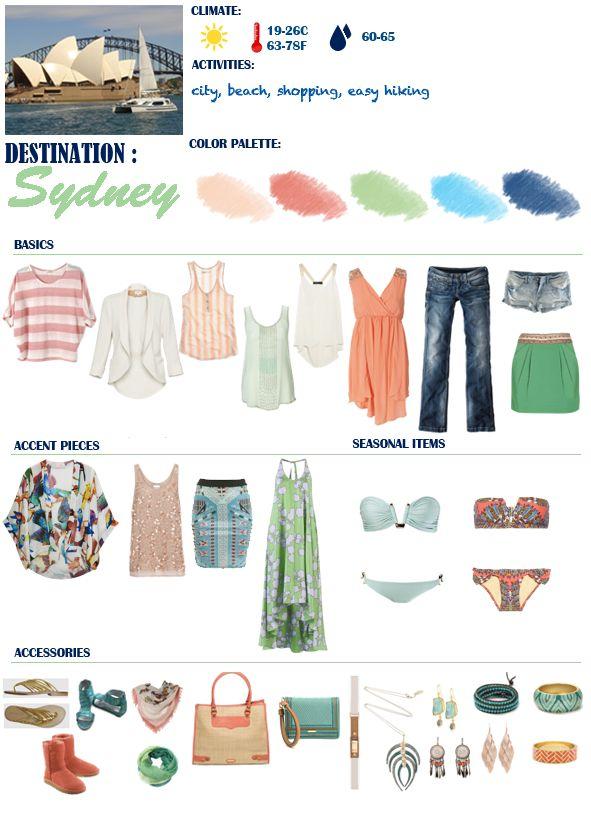 packing for spring/summer in Australia