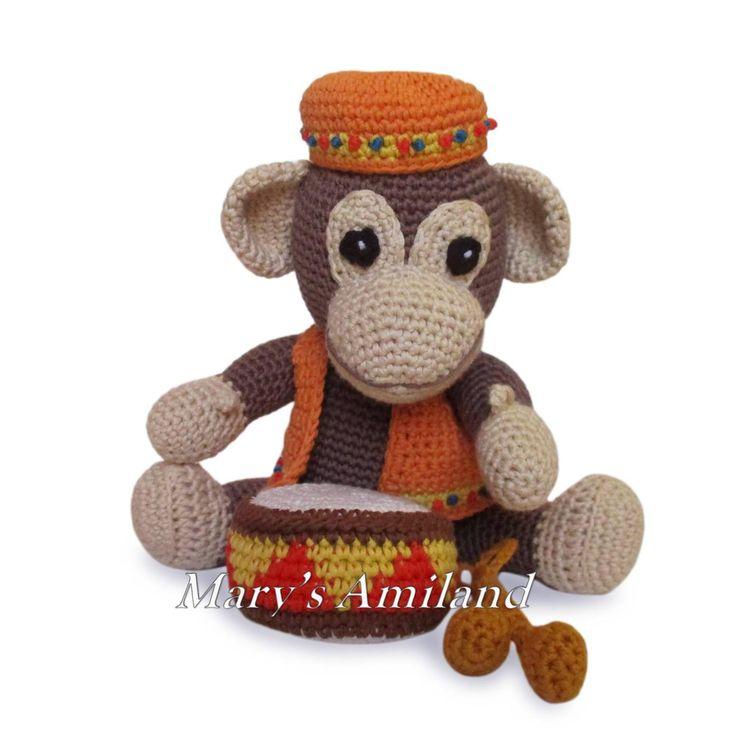 Arthur Monkey The Ami - Amigurumi Crochet Pattern | Craftsy