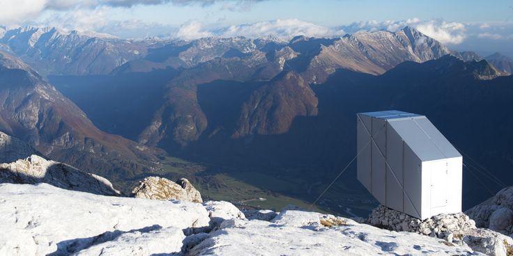 Kanin Winter Cabin by OFIS Architects ➕ Slovenia