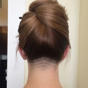 This tiny cut. | These Cool Hair Designs Will Give Your Ponytail New Life