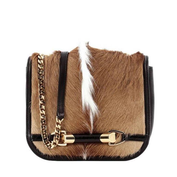 Jimmy Choo Zadie Crossbody Bag Gazelle Hair with Crocodile Small 1