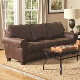 Check out the Coaster Furniture 504201 Bentley Elegant and Rustic Family Room Sofa in Brown priced at $542.40 at Homeclick.com.