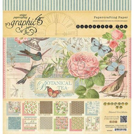 """Me encantan los papeles de scrapbook de Graphic 45, pero en especial esta colección """"Botanical Tea"""" #scrap #crafts #manualidades"""