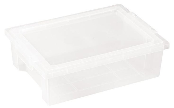 ECR4Kids ELR-0725-CL Small Storage Bins with Lid - Clear - Set of 20