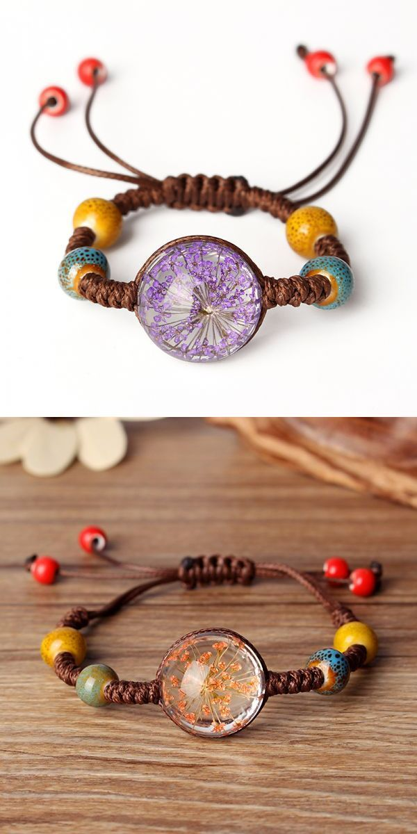 Mattyb Bracelets Ethnic Ceramics Hand Woven Baby 8217 S Breath Flower Bracelet For Women 3 Gold His And Hers Homemade