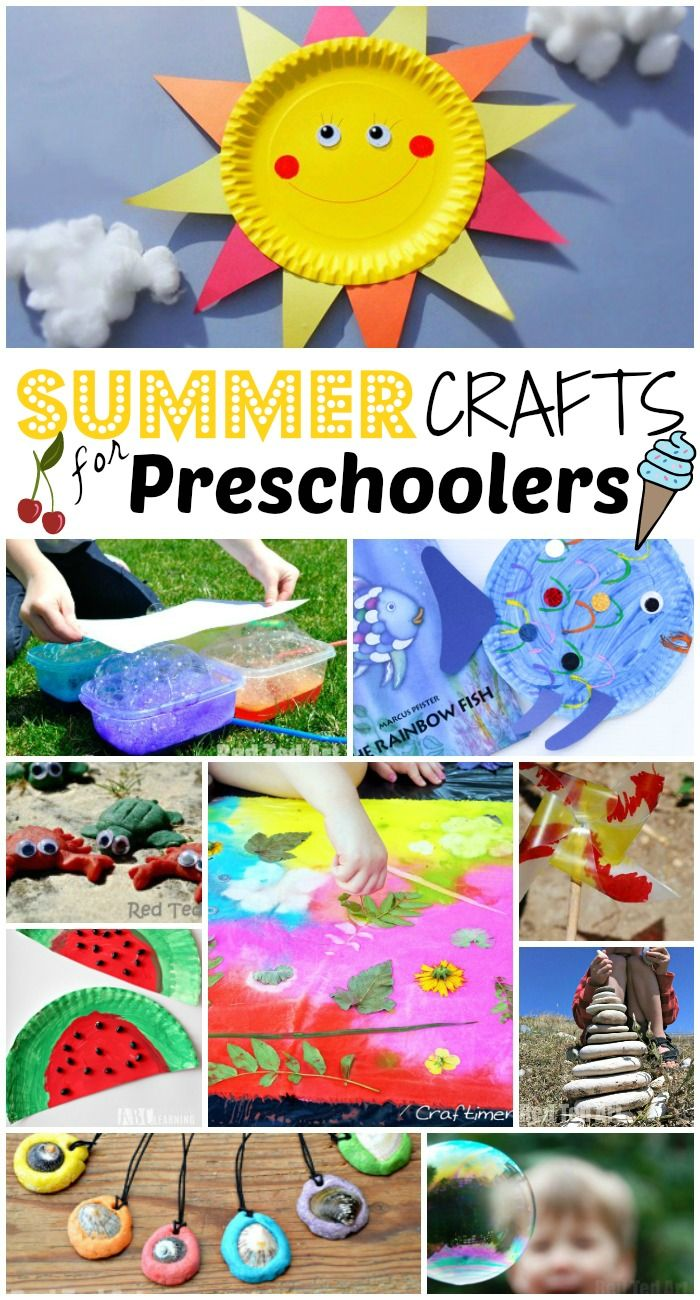 Some of the best and loveliest Summer Crafts for Preschoolers. Keep young minds engaged and busy with these lovely creative Summer crafts for kids.