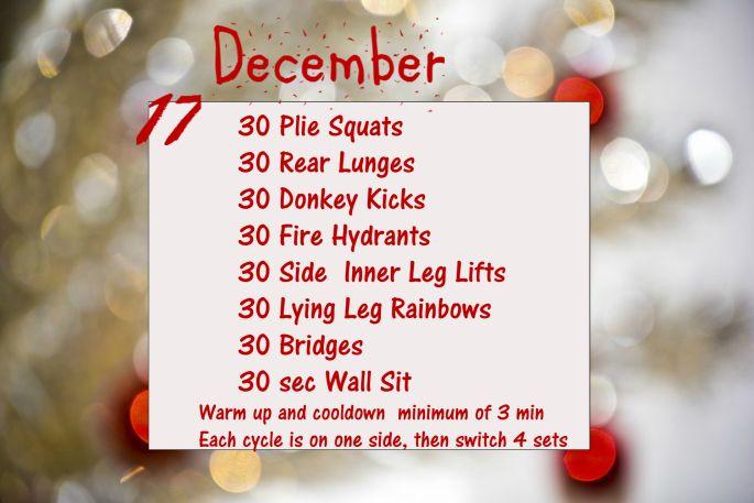 December Fitness Challenge - Day 17