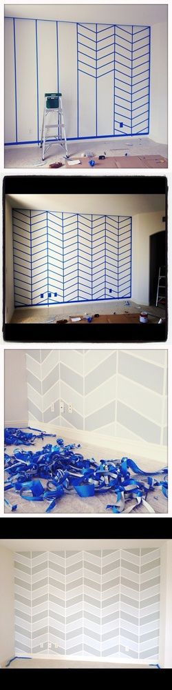 chevron wall: