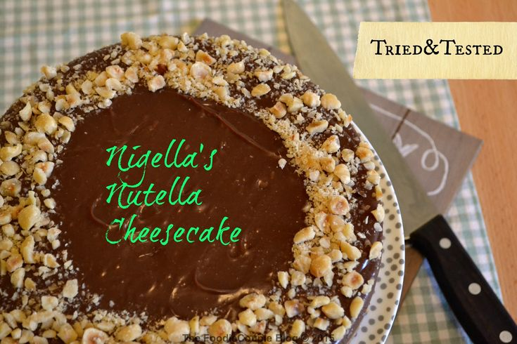Nigellas luxurious Nutella Cheesecake