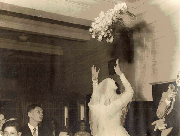 An Old Fashioned Bouquet Toss