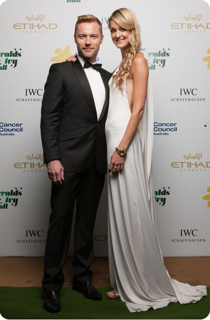 Ronan Keating and Storm Uechtritz on The Emeralds & Ivy Ball red carpet