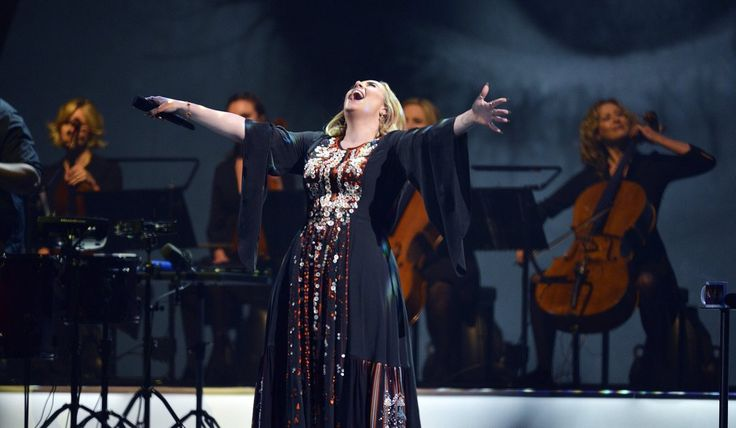 """I did it""! Triumphant Adele fulfills her dream of performing at Glastonbury. Image credit #BBC #Adele #Glastonbury #PyramidStage #WorthyFarm #Pilton #GlastonburyFestival June 25, 2016"