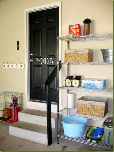 garage org.: The Doors, Garage Entry, Entry Doors, Garage Idea, Black Doors, Garage Doors, Garage Organizations, Front Doors, Garage Storage